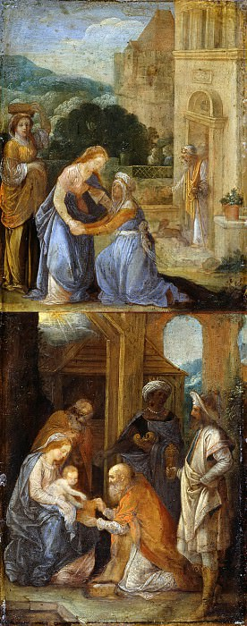 Adam Elsheimer (1578-1610) - Scenes from the life of Mary 2. Part 1