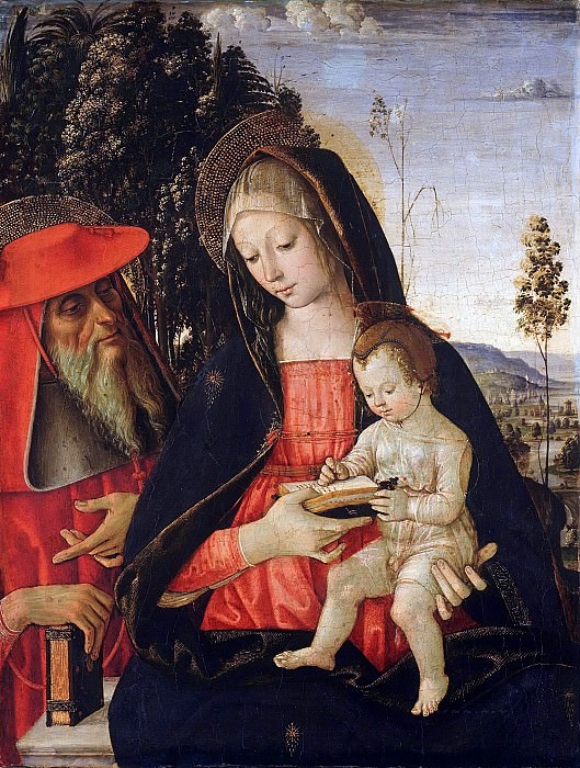 Pintoricchio (Bernardino di Betto)(1454-1513) - Madonna and Child with St. Jerome. Part 1