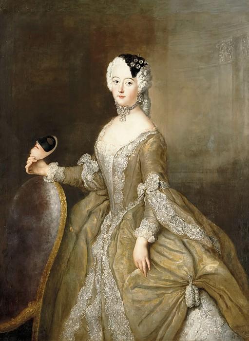 Antoine Pesne (1683-1757) - Louisa Ulrica, Princess of Prussia. Part 1
