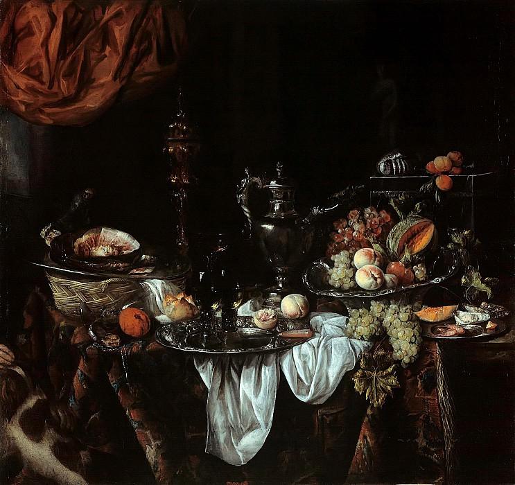 Abraham van Beyeren (1620-21-1690) - Still Life with Fruit and elegant vessels. Part 1