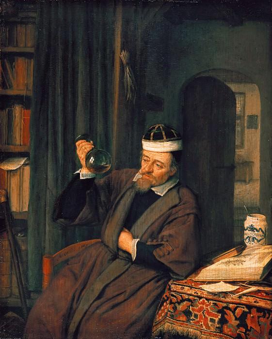 Adriaen van Ostade (1610-1685) - The doctor in his study. Part 1
