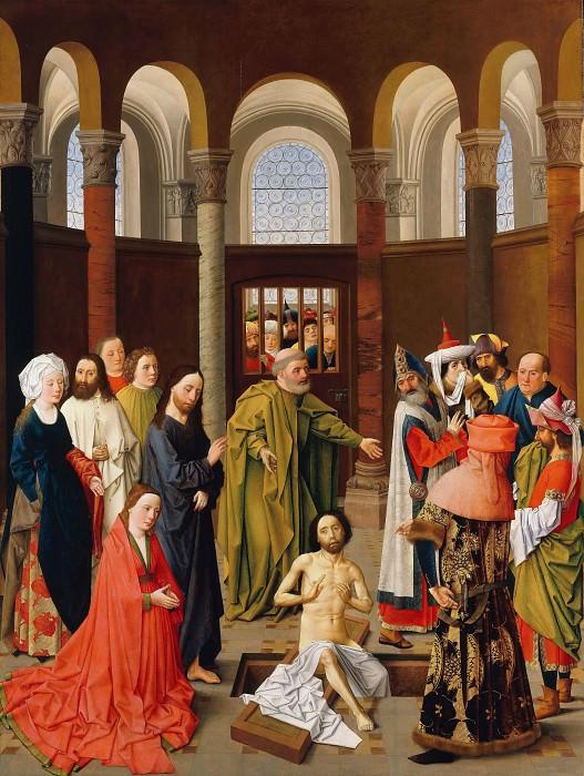 Aelbert van Ouwater - The Raising of Lazarus. Part 1