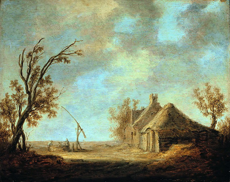 Aelbert Cuyp (1620-1691) - landscape with draw-well in front of a homestead. Part 1