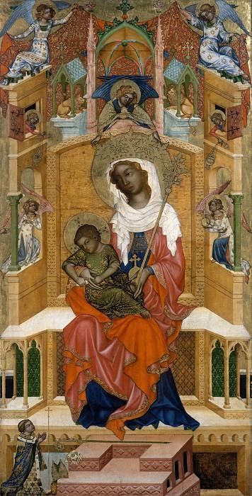 Богемский мастер - Мадонна с Младенцем на троне. Часть 1