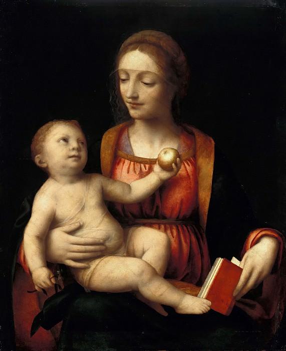 Bernardino Luini (1480-1532) - The Virgin and Child and the apple. Part 1
