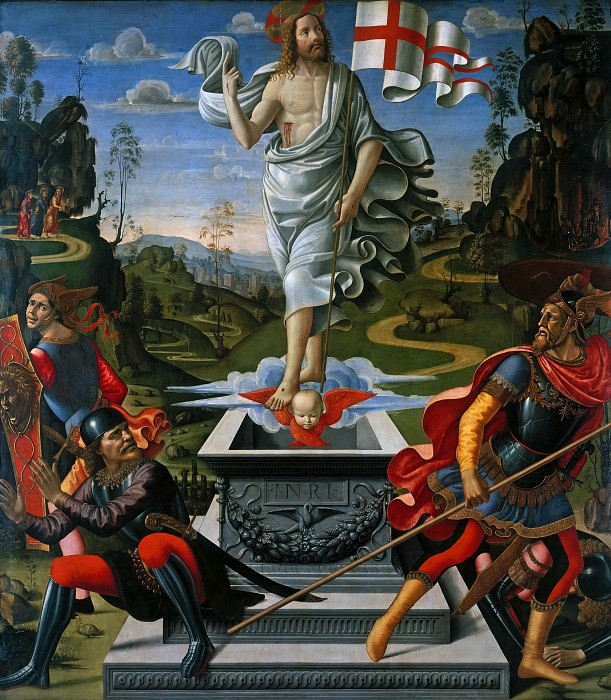 Benedetto (c.1458-1497)and Davide (1452-1525) Ghirlandaio - The Resurrection of Christ. Part 1
