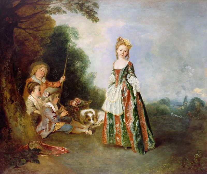 Antoine Watteau (1684-1721) - The Dance. Part 1