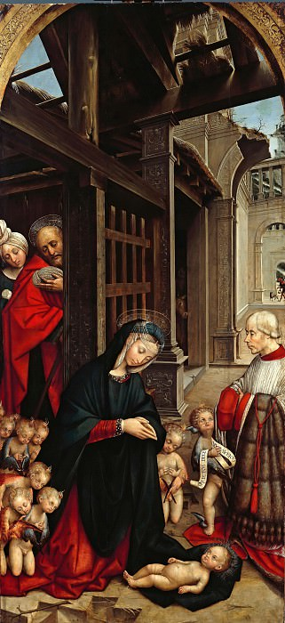 Defendente Ferrari (1490-1535) - The Adoration of the Child with a Donor. Part 1