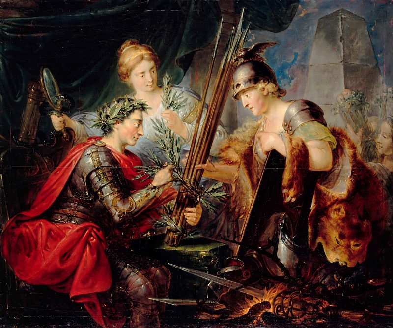 Christian Bernhard Rode (1725-1797) - Allegory of Frederick the Great, the founder of the German princes Federal. Part 1