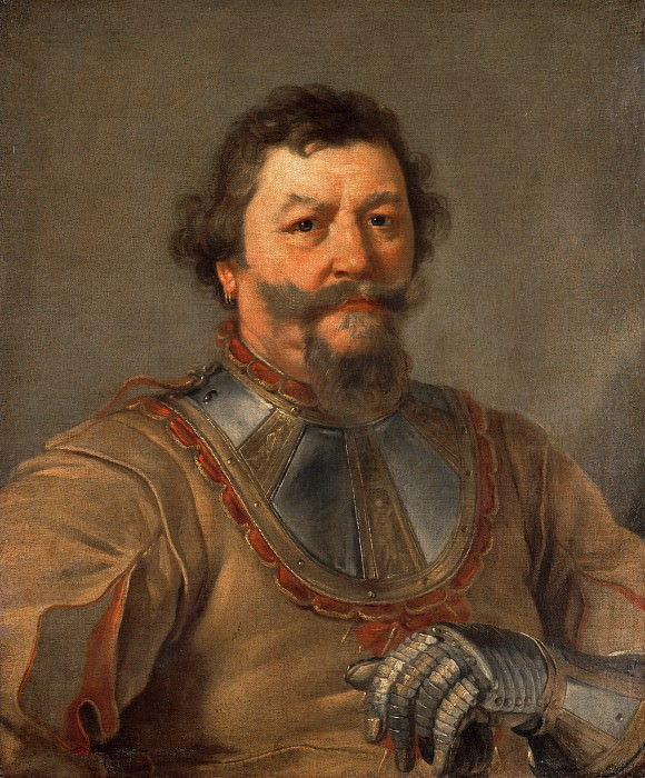 Andrea Sacchi (1599-1661) - Portrait of an officer. Part 1