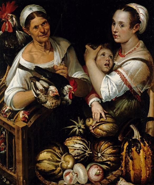 Пассаротти, Бартоломео (1529-1592) - Две торговки птицей и овощами с мальчиком. Часть 1
