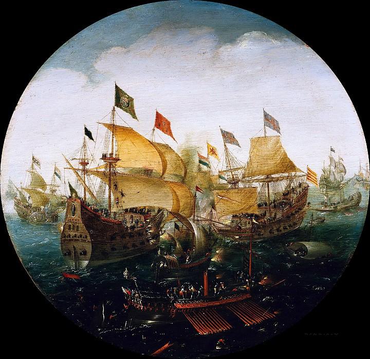 Арт Антонис (1580-1620) - Сражение между голланскими и испанскими кораблями. Часть 1