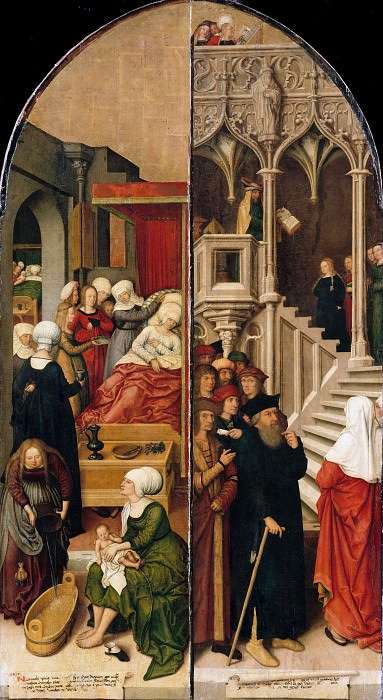 Bernhard Strigel (1460-61-1528) - Schussenrieder altar, outside. Part 1