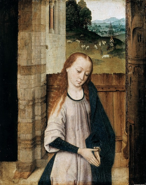 Dierick Bouts (c.1415-1475) - Mary in Adoration. Part 1