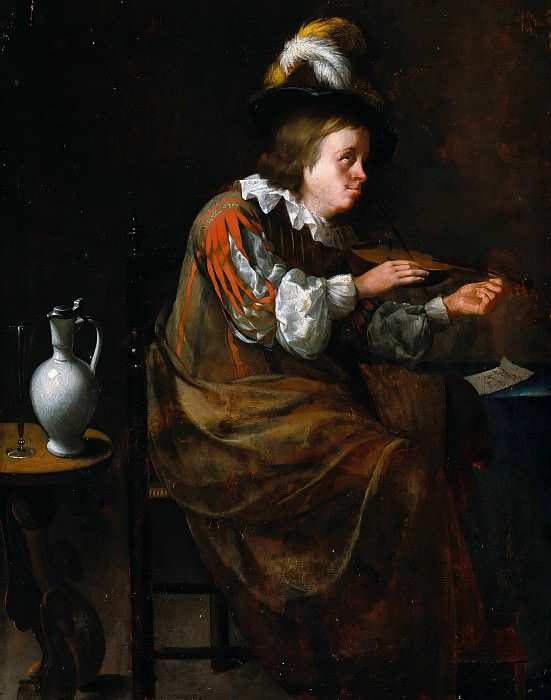 Barend van Scheyndel - Violin Player. Part 1