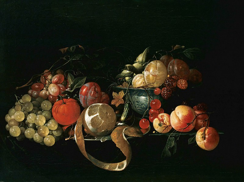 Cornelis de Heem (1631-1695) - Still Life with Fruit. Part 1
