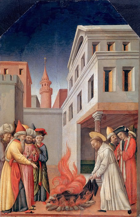 Antonio Vivarini (c.1415-1476) - The miracle of the fire before the Sultan. Part 1