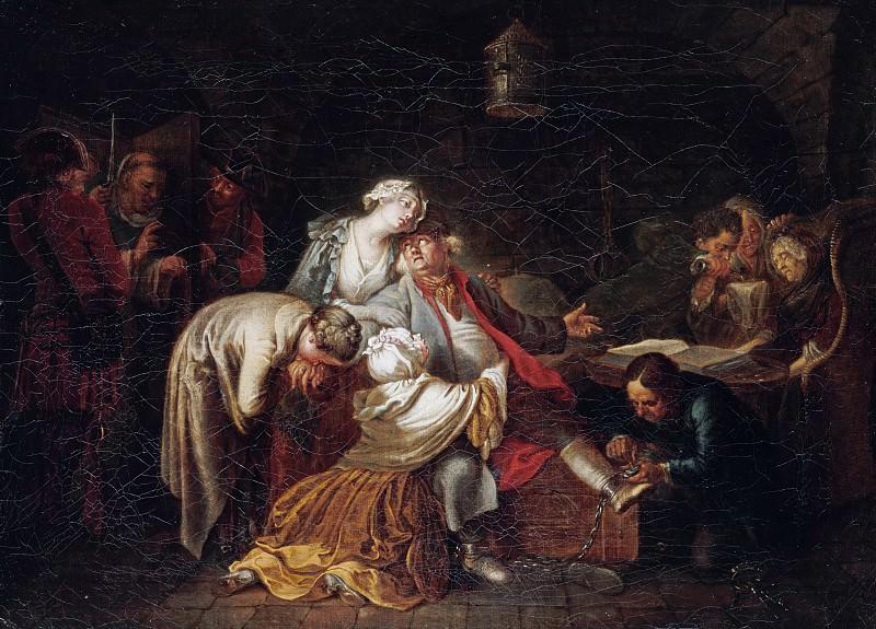 Daniel Chodowiecki (1726-1801) - The departure of Jean Calas. Part 1