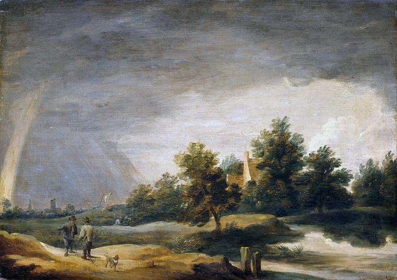 David Teniers II (1610-1690) - Landscape with rainbow. Part 1