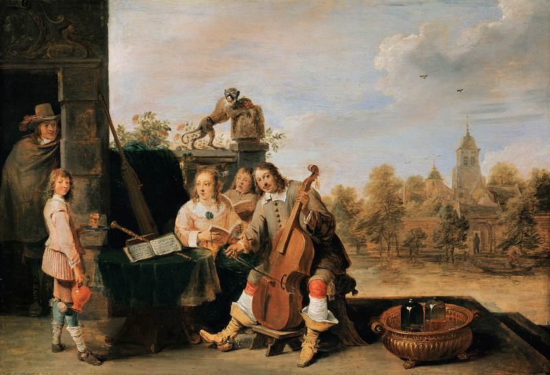 David Teniers II (1610-1690) - The painter and his family. Part 1