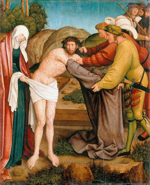 Bernhard Strigel (1460-61-1528) - The Disrobing of Christ. Part 1