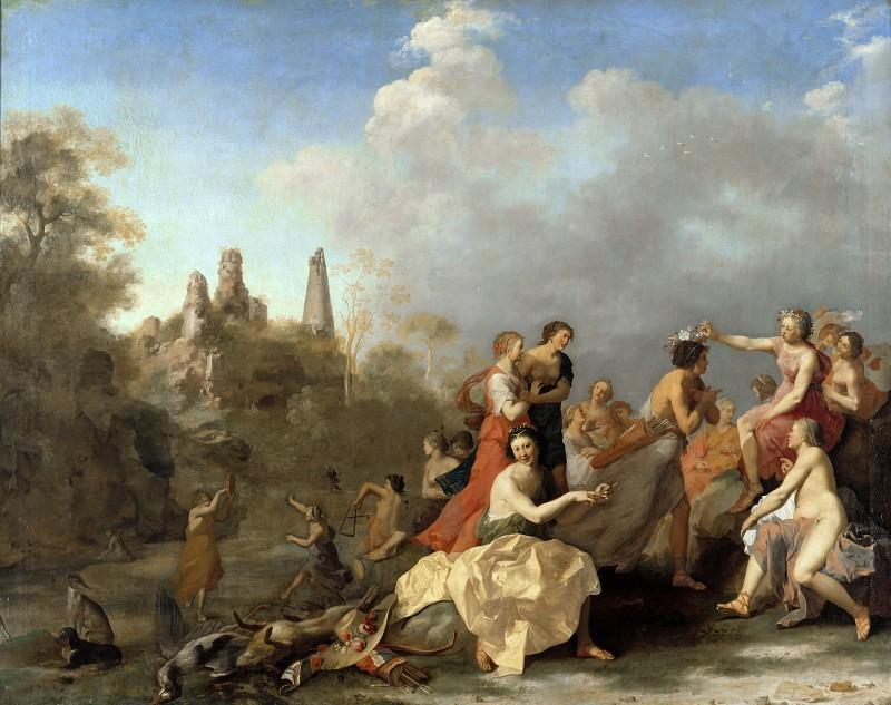 Cornelis van Poelenburg (1586-1667) - Amaryllis crowned Myrtill. Part 1
