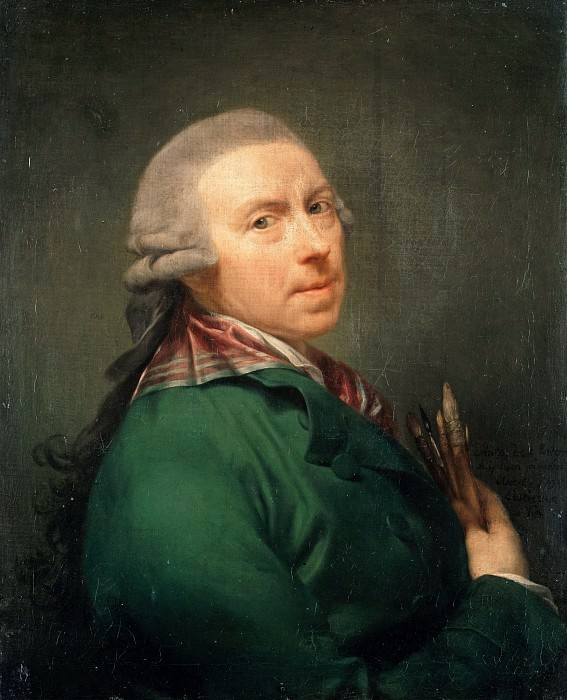 Anton von Maron (1733-1808) - Self-portrait. Part 1