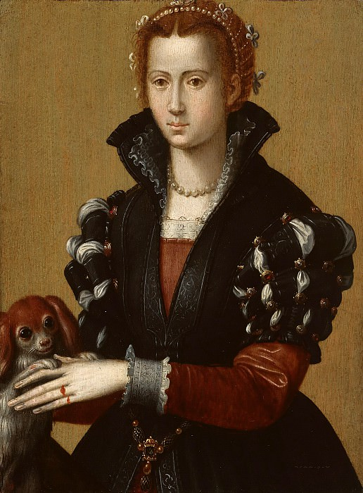 Alessandro Allori (1535-1607) - Portrait of Eleonora de Toledo. Part 1
