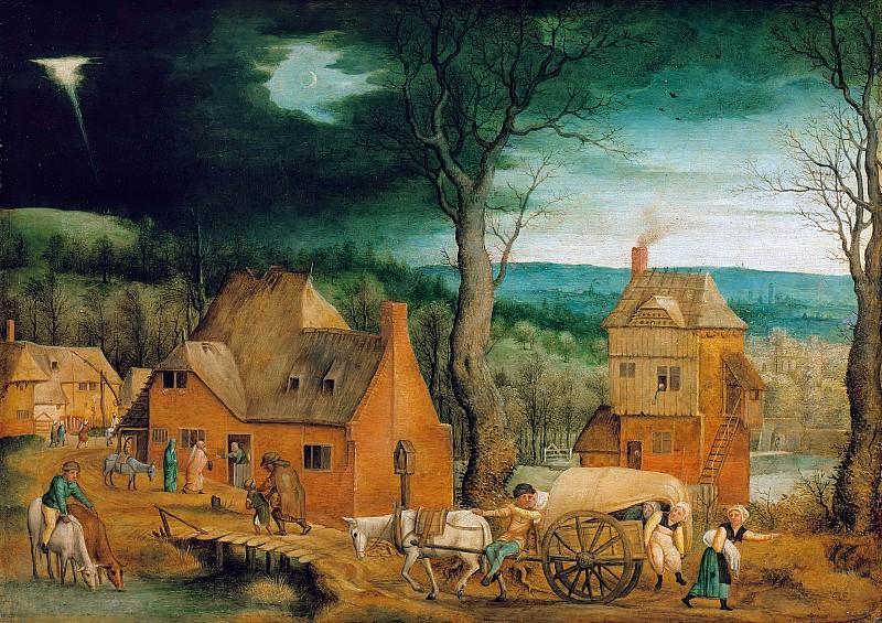 Массейс, Корнелис (1513-1579) - Путешествие Св Семейства в Вифлеем. Часть 1