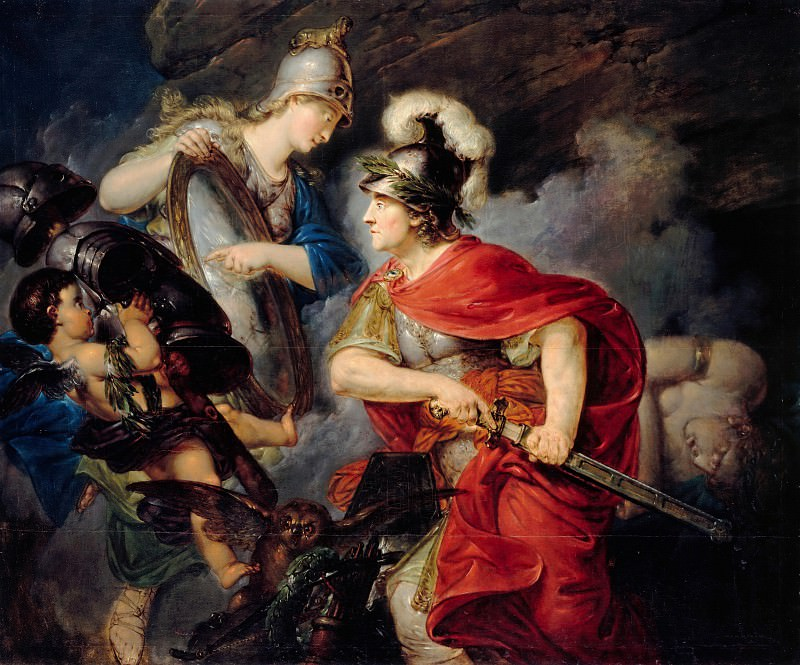 Christian Bernhard Rode (1725-1797) - Frederick the Great as Perseus. Part 1