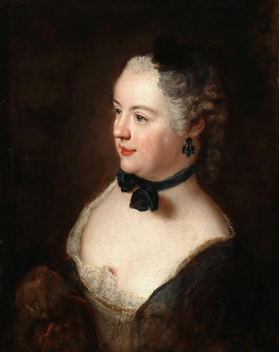 Antoine Pesne (1683-1757) - Portrait of a young woman. Part 1