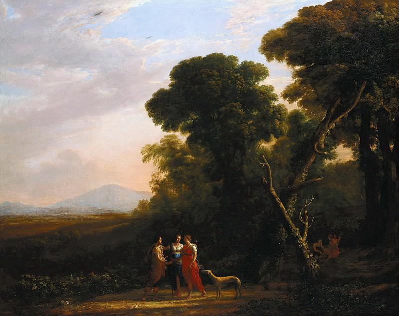 Лоррен, Клод (1600-1682) - Классический римский пейзаж с Дианой, Прокридой и Кефалом. Часть 1