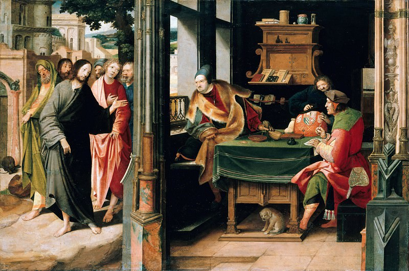 Cornelis Engebrechtsz (1468-1533) - Calling of Matthew to the apostleship. Part 1