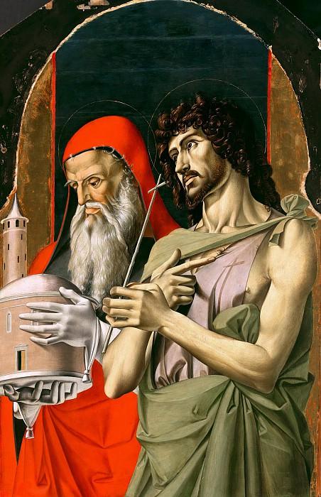 Alvise Vivarini (1446-1502) - Saint John the Baptist and Saint Jerome. Part 1