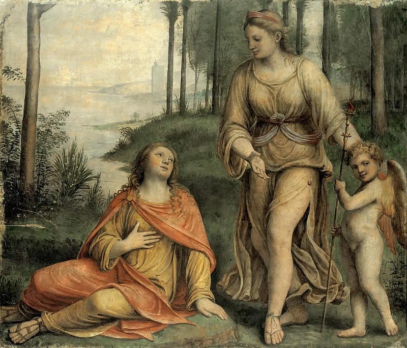 Луини, Бернардино (1480-1532) - Миф о Европе - Европа, Венера и Амур. Часть 1