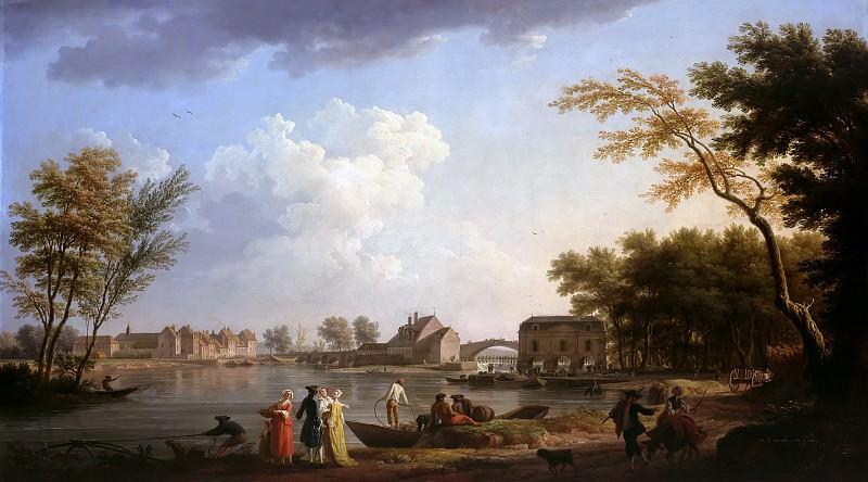 Верне, Клод-Жозеф (1714-1789) - Вид на Сену в Ножане. Часть 1