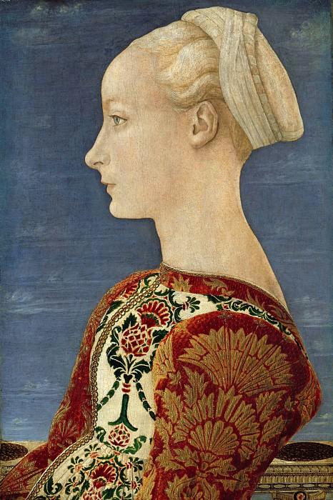 Antonio del Pollaiuolo (1431-1498) - Profile portrait of a young woman. Part 1