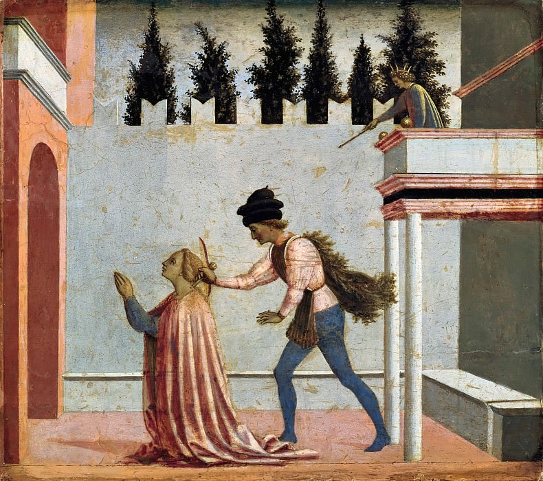Domenico Veneziano (c.1410-1461) - The Martyrdom of St. Lucia. Part 1