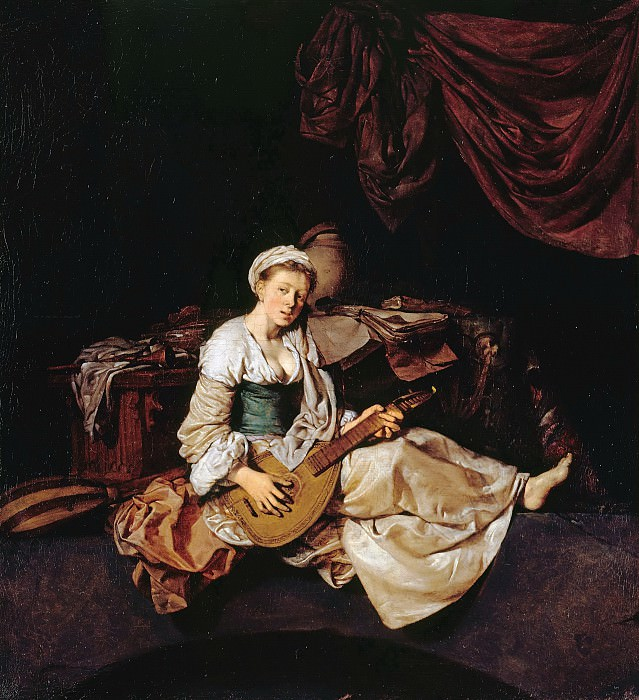 Cornelis Bega (1631-1664) - The Lute Player. Part 1