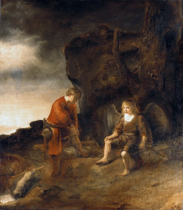 Abraham van Dijck (1635-1672) - Tobias and the Angel. Part 1