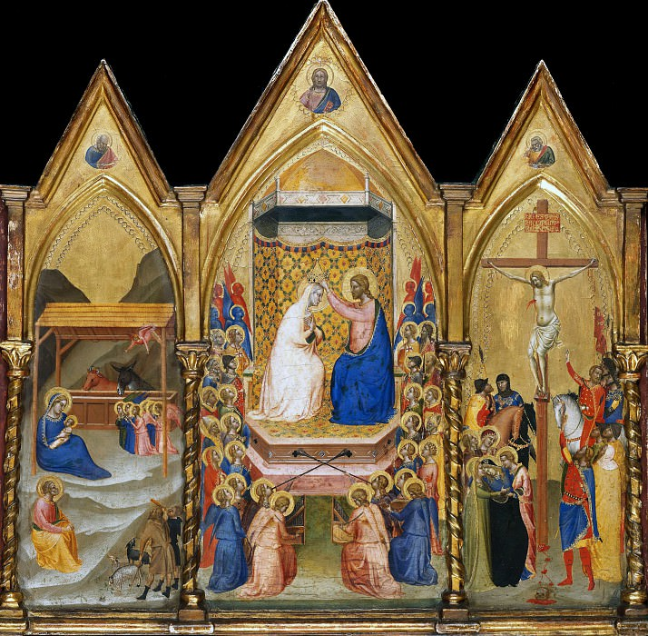 Bernardo Daddi (c.1290-1348) - Altar of the coronation of the Virgin. Part 1
