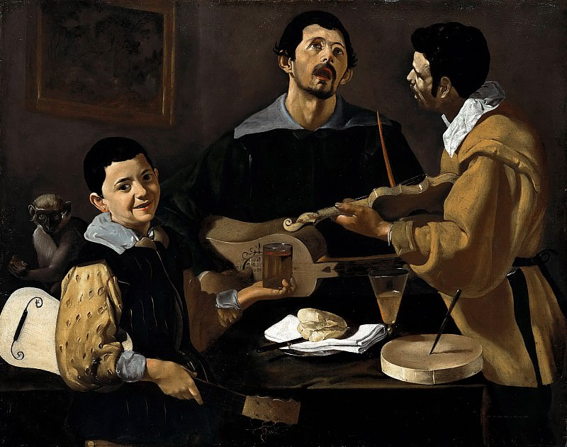 Diego Velazquez (1599 - 1660) - The Three Musicians. Part 1