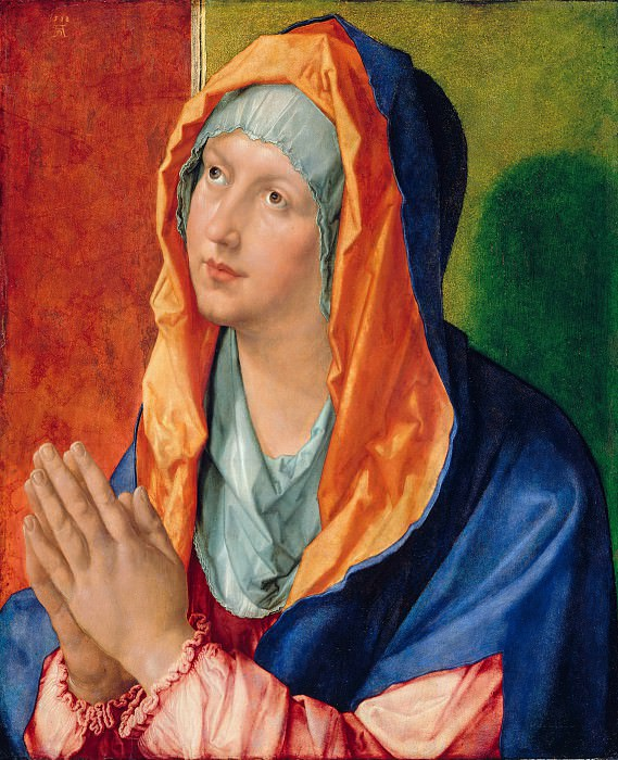 Albrecht Durer (1471-1528) - Praying Mary. Part 1