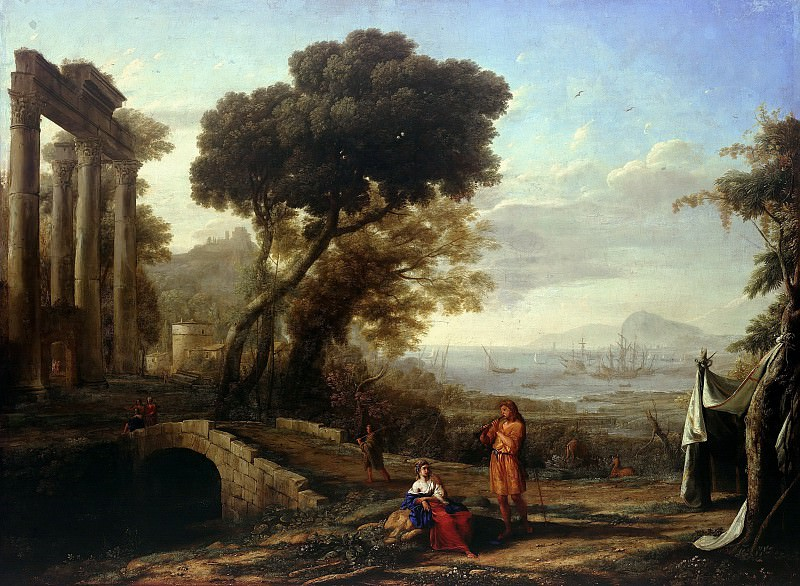 Claude Lorrain (1600-1682) - Italian landscape in morning light. Part 1