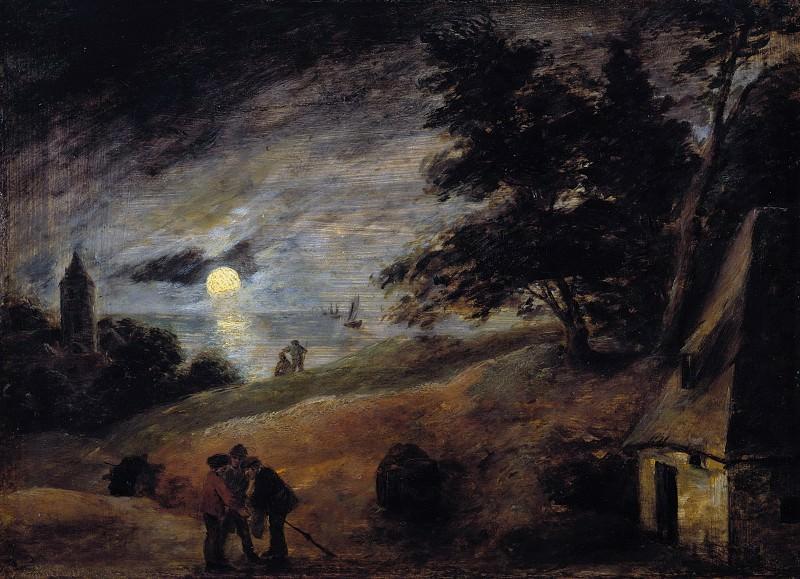 Adriaen Brouwer (1605-06-1638) - Dunes in the moonlight. Part 1