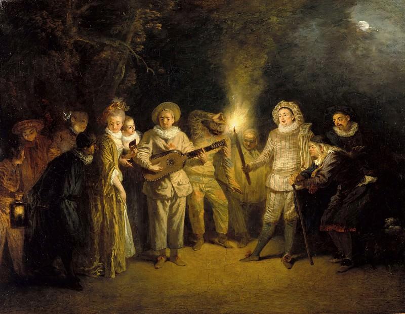 Antoine Watteau (1684-1721) - The Italian comedy. Part 1