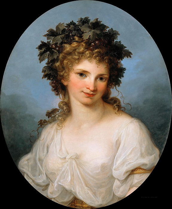 Angelica Kauffmann (1741-1807) - Bacchante (Self Portrait). Part 1