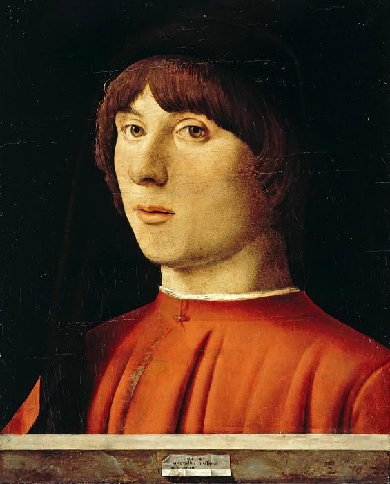 Antonello da Messina (c.1430-1479) - Portrait of a young man. Part 1