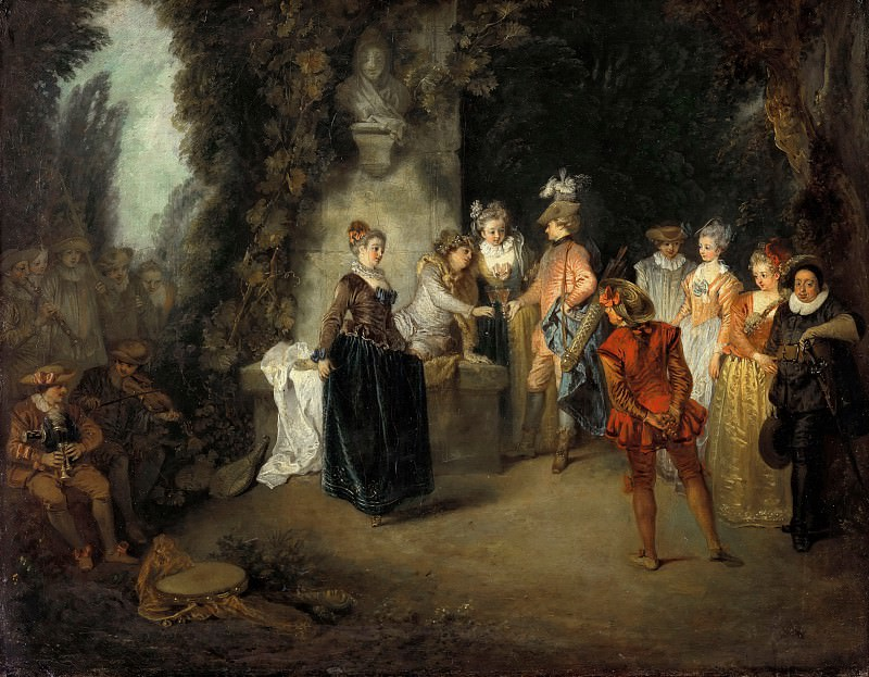 Antoine Watteau (1684-1721) - The French Comedy. Part 1