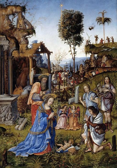 Amico Aspertini (1474-75-1552) - The Adoration of the Shepherds. Part 1
